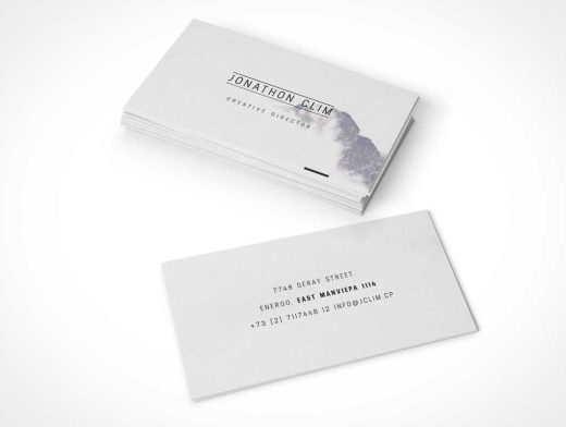 8 Different Business Card Layouts PSD Mockup