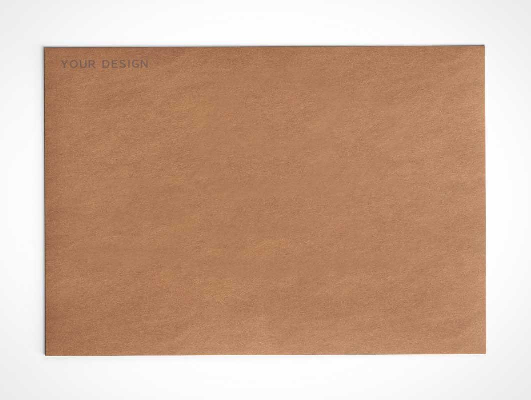 A4 Envelope Recycled Paper PSD Mockup