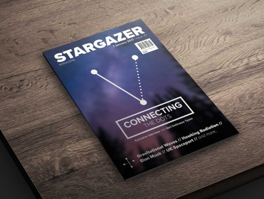 A4 Magazine Low Angle Product Shot PSD Mockup