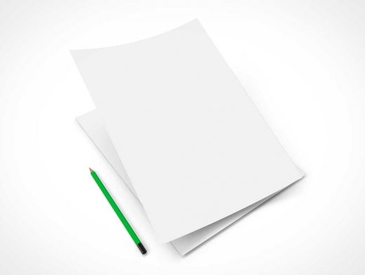 A4 Paper Letterhead PSD Mockup
