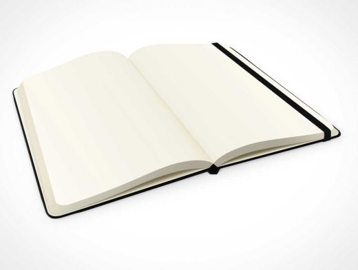 Angled Notebook Closeup PSD Mockup