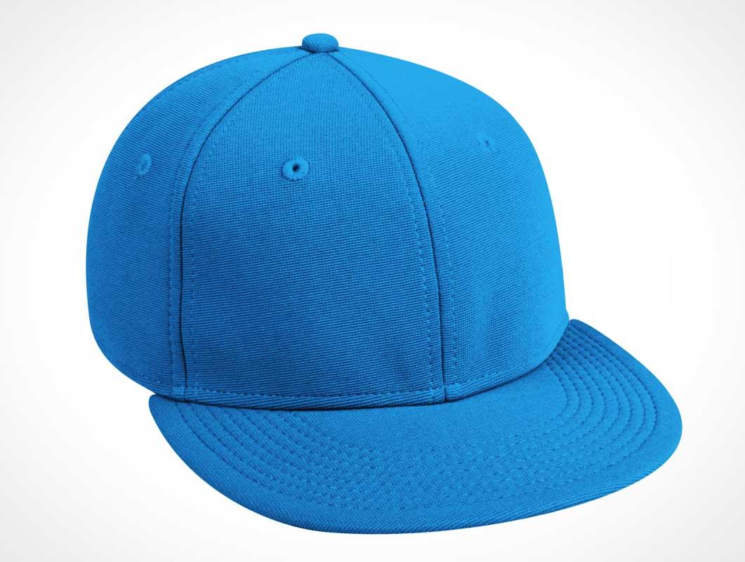 4797378bd3a Blue Realistic Cap PSD Template