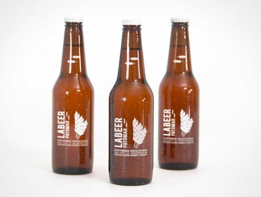 Bottled Beer Brown Glass Product PSD Mockup