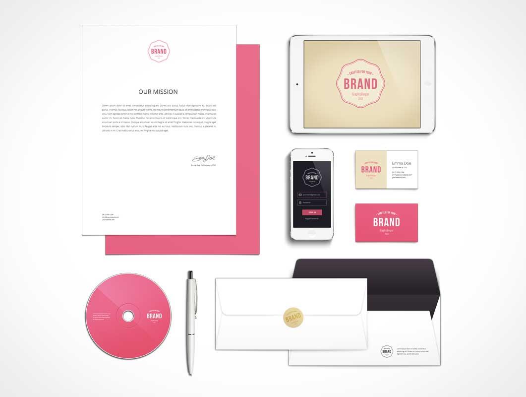 Branding & Identity Ensemble PSD MockUp