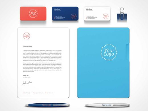 Branding Stationery Identity PSD Mockup