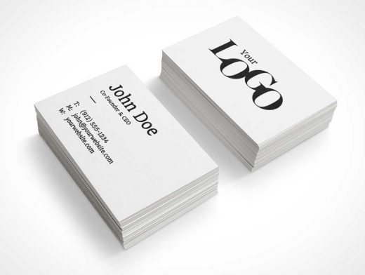 Business Card Dual Stack PSD Mockup