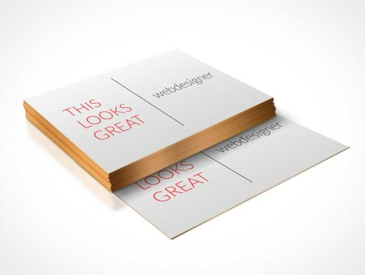 Business Card Stack Design PSD Mockup