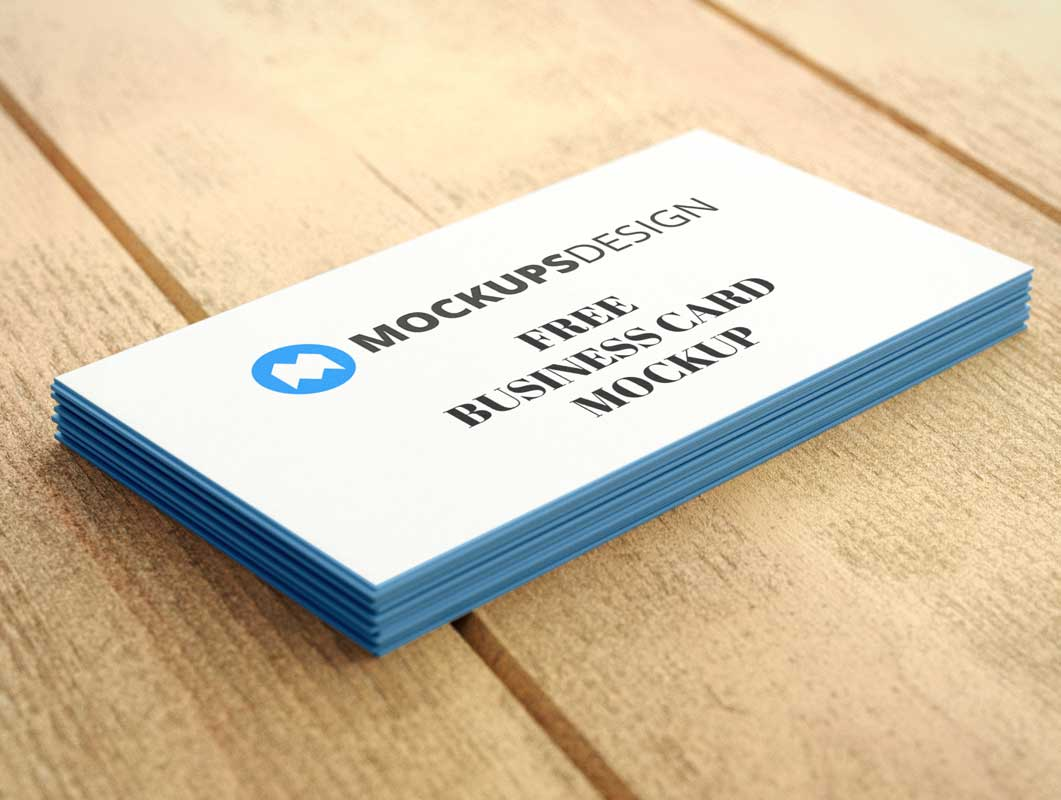 Business Card Stack Pile PSD Mockup