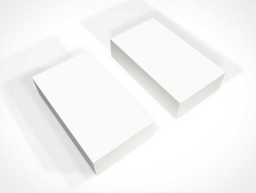 Business Card Twin Stacks PSD Mockups