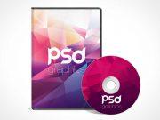 CD DVD Disk & Jewel Case PSD Mockup
