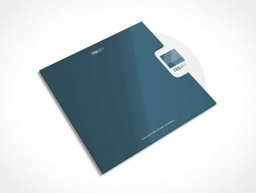 CD Disk With Sleeve Guard PSD Mockup