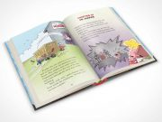 Children's Hardbound Book Center Page PSD Mockup