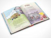 Children's Hardbound Book Center Page PSD Mockup