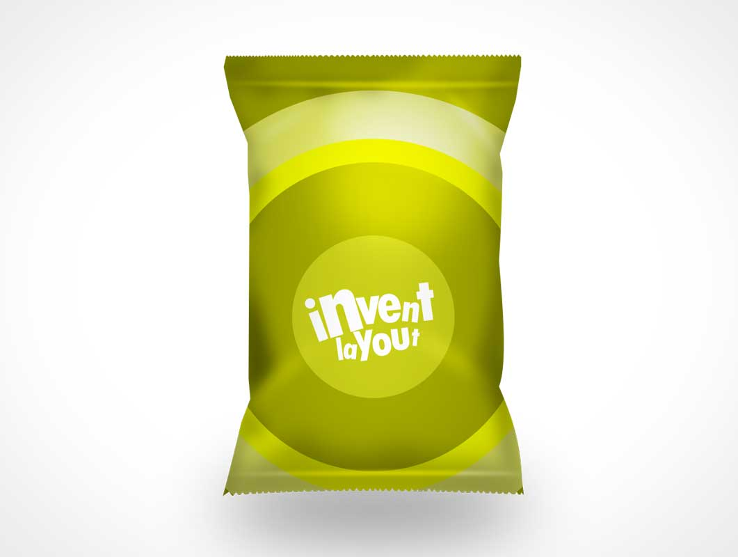 Chips Bag Packaging PSD Mockup