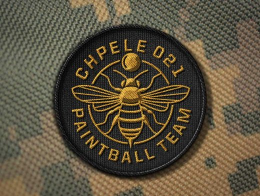 Circular Badge Stitched Patch PSD Mockup