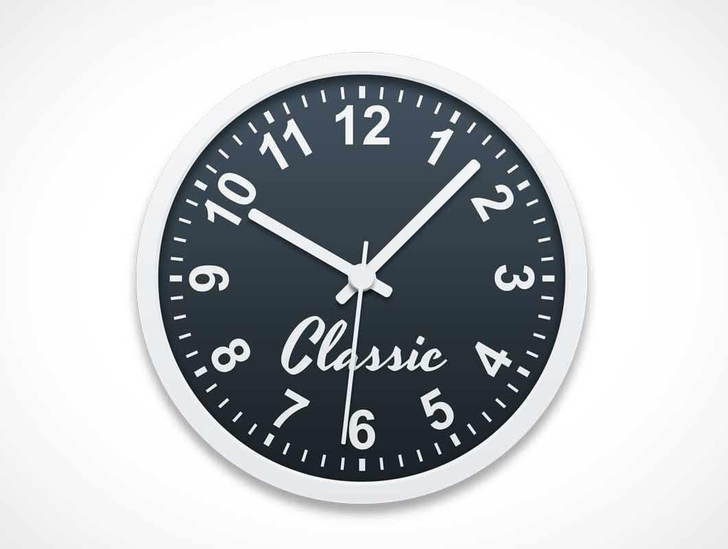 Classic Wall Clock PSD Mockup