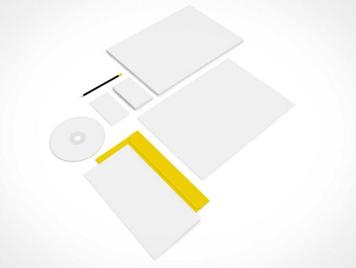 Company Branding Stationery & Letterhead PSD Mockup