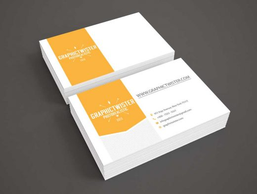Company Business Card Packs PSD Mockup