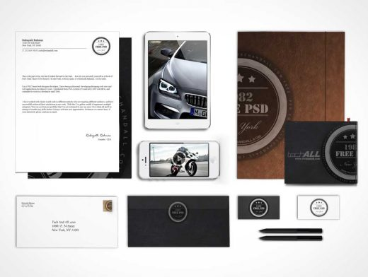 Corporate Identity For Luxury Brands PSD Mockup