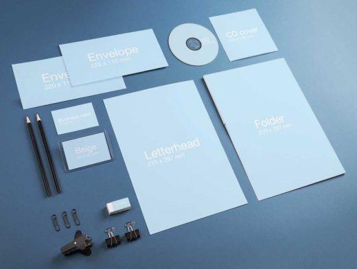 Corporate Stationery Identity PSD Mockup