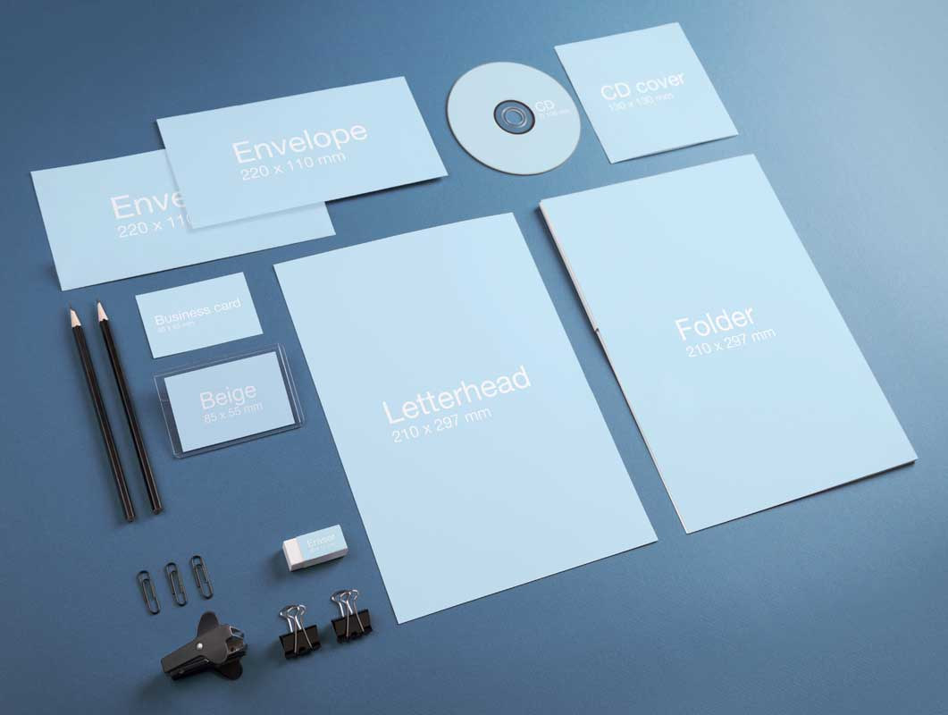 Corporate Stationery Identity PSD Mockup