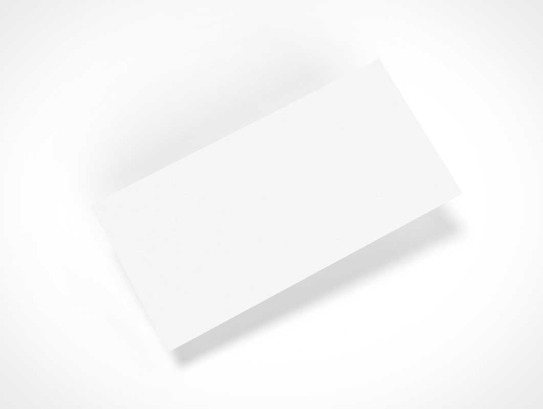 Correspondence Card Top View PSD Mockup
