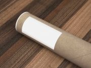 Courrier Paper Tube PSD Mockup
