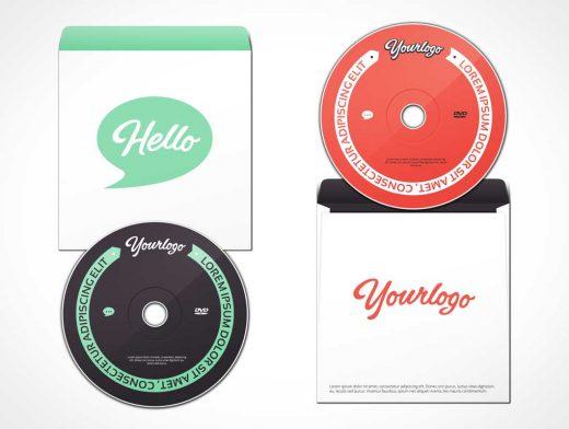 DVD & Sleeve Jacket Envelope PSD Mockup