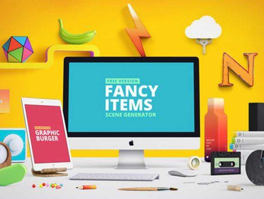 Designer Tools Scene Creator PSD Mockup