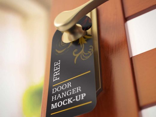 Door Hanger Privacy Notice PSD Mockup