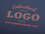 Embroidered Logo PSD Mockup