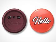 Flair Pin Button Badge PSD Mockup