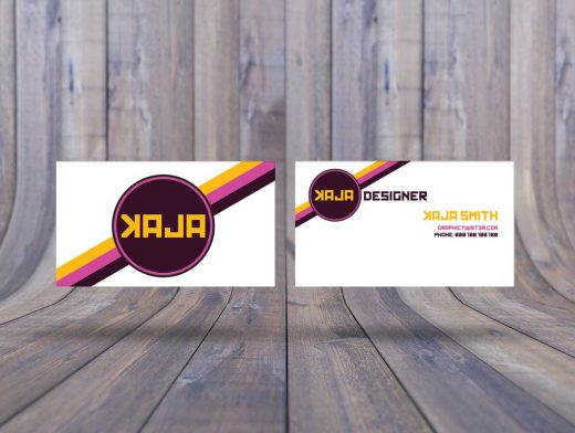 Floating Double Business Card PSD Mockup