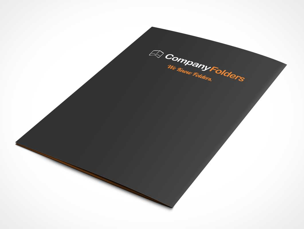 Folder Back Cover PSD Mockup