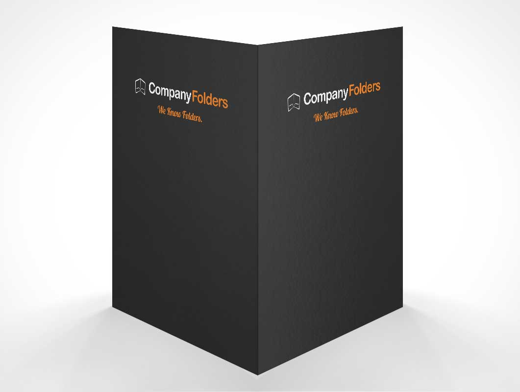 Folder Front And Back Covers PSD Mockup