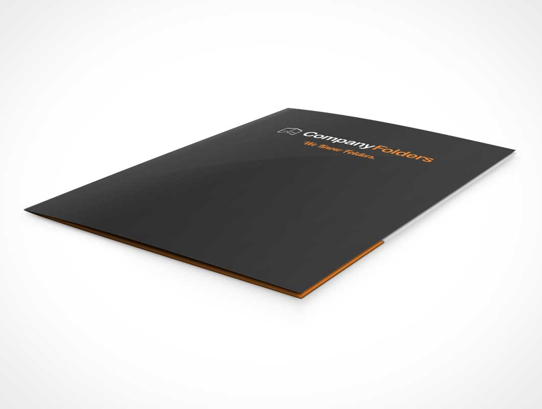 Folder Low Angle View PSD Mockup
