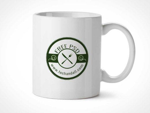 Glossy Ceramic Mug PSD Mockup