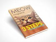 Hardcover Cat Book PSD Mockup