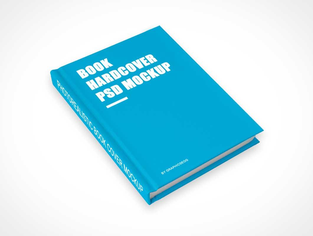 Hardcover Textbook Above Shot PSD Mockup