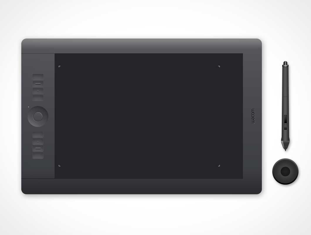 Illustration Wacom Intuos5 Touch Tablet PSD Mockup