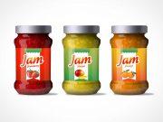 Jam Jar Bottle Label Design PSD Mockup
