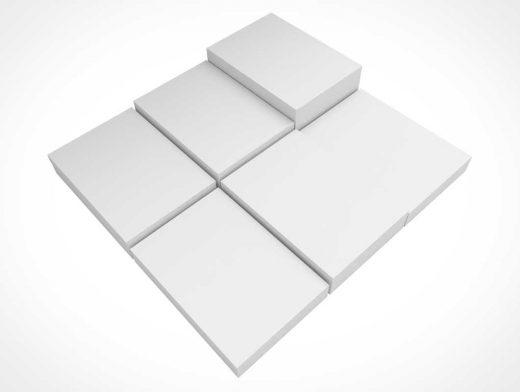 Letterhead Multiple Stacks PSD Mockup