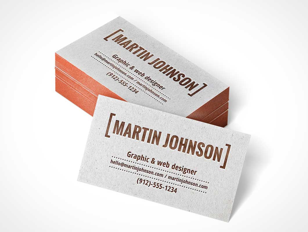 Letterpress business card stack psd mockup psd mockups letterpress business card stack psd mockup reheart Gallery