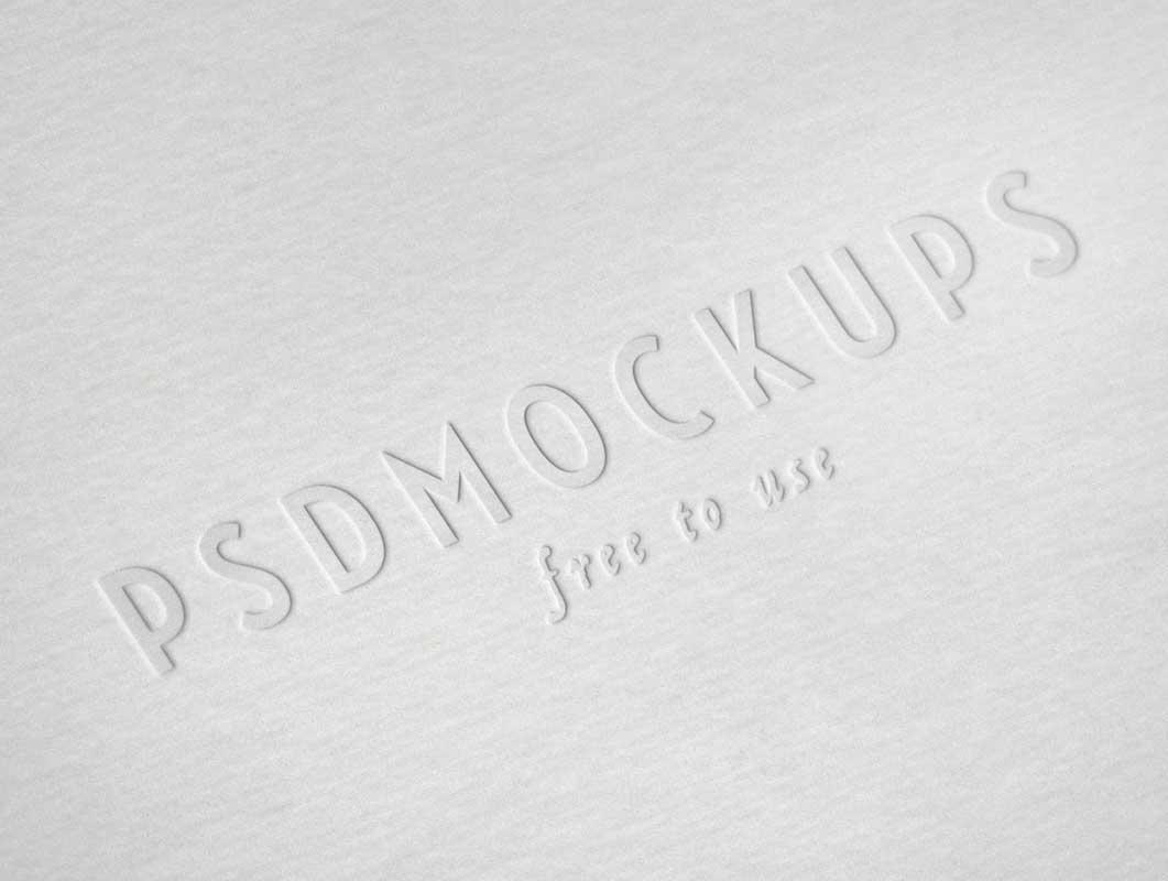 Letterpress Embossed Logo Stamp PSD Mockup