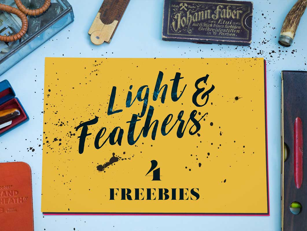 Light & Feather: 4 Free PSD Mockups