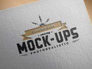 Logo Branding Paper Edition PSD Mockup