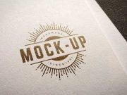 Logo Printed On Heavy Stock Letterhead Paper PSD Mockup