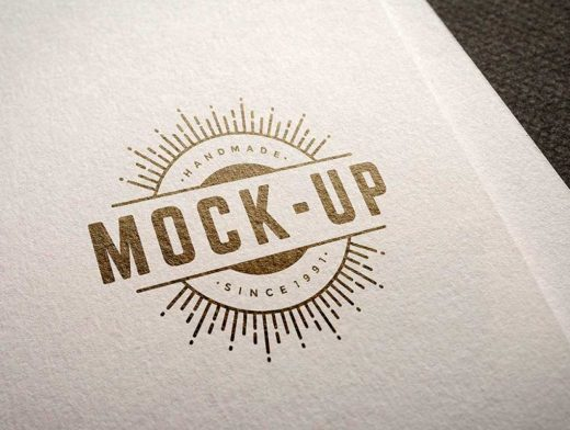 Logo Printed On Heavy Stock Letterhead Paper PSD Mockup