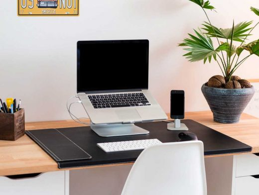 Macbook Pro-iPhone Desk Setup PSD Mockups