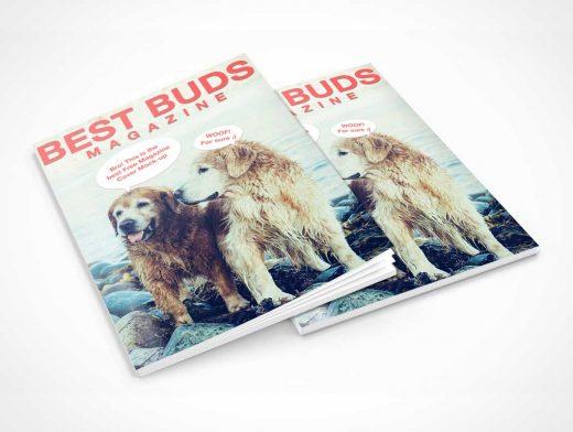 Magazine Cover Presentation PSD Mockup